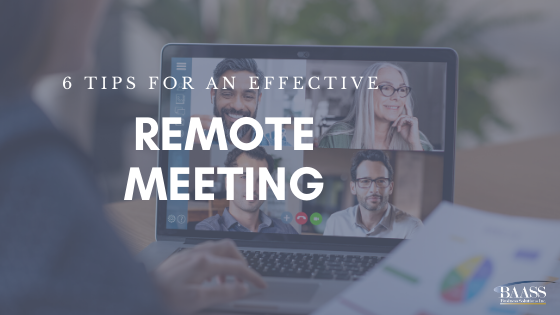 6 Tips for an Effective Remote Meeting