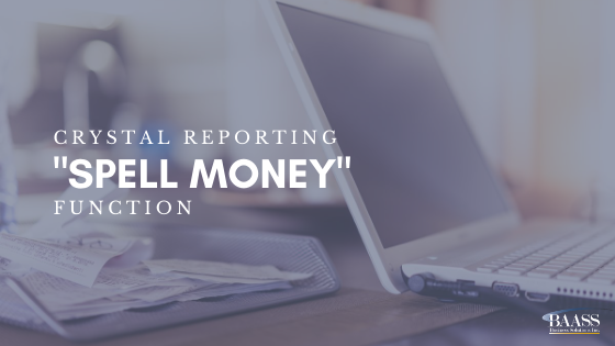 Crystal Reporting Spell Money Function