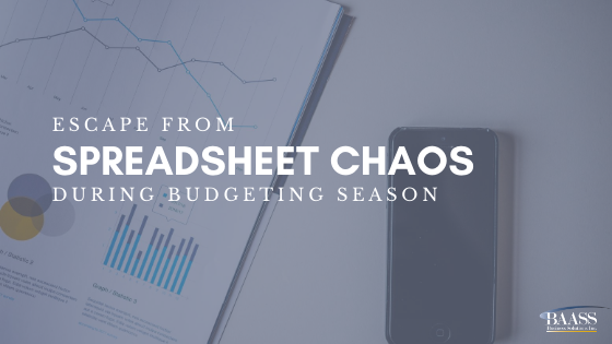 Blog - Escape from Spreadsheet Chaos During budgeting Season