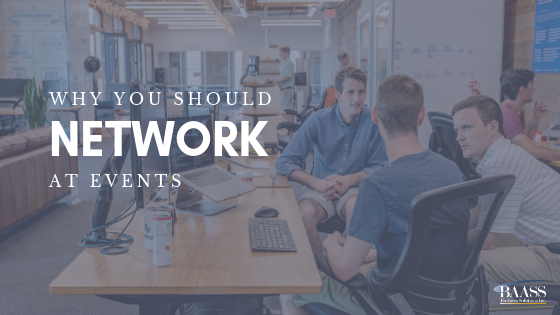 Why you should network at events