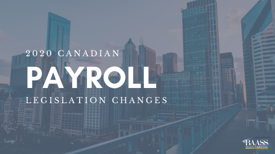 Legislation changes for Payroll 2020