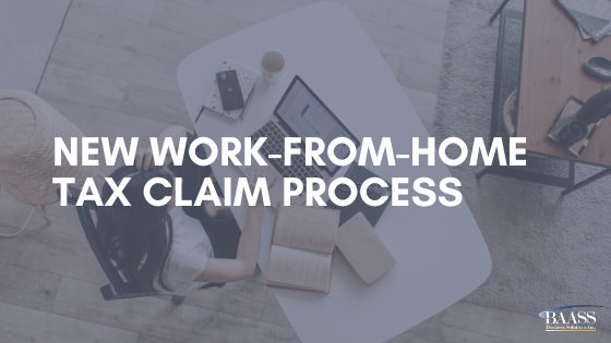 New Work-from-home Tax Claim Process