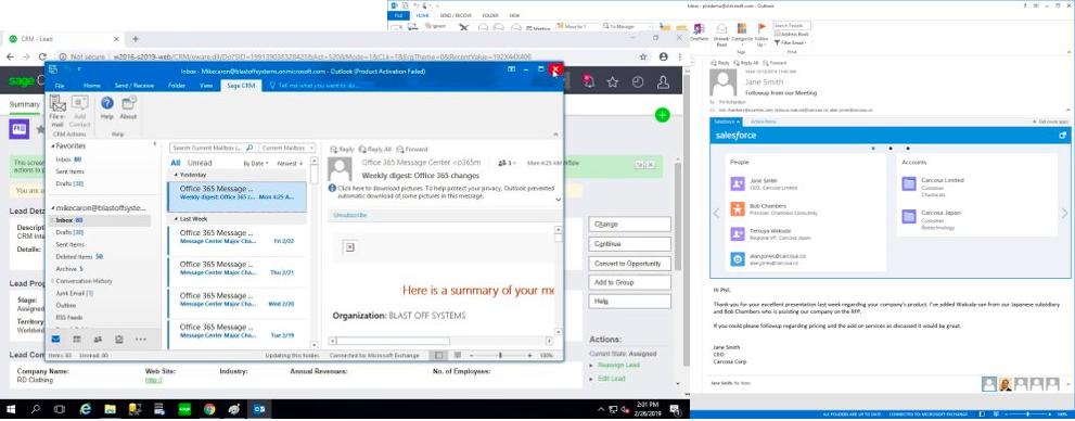 Outlook plug-in CRM