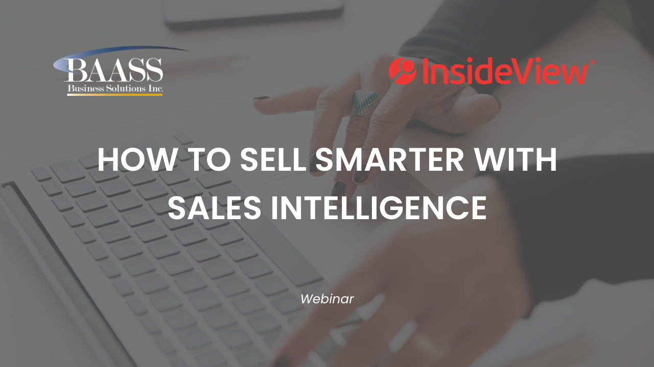 How to Sell Smarter with Sales Intelligence