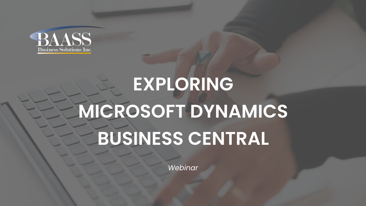 Exploring Microsoft Dynamics Business Central