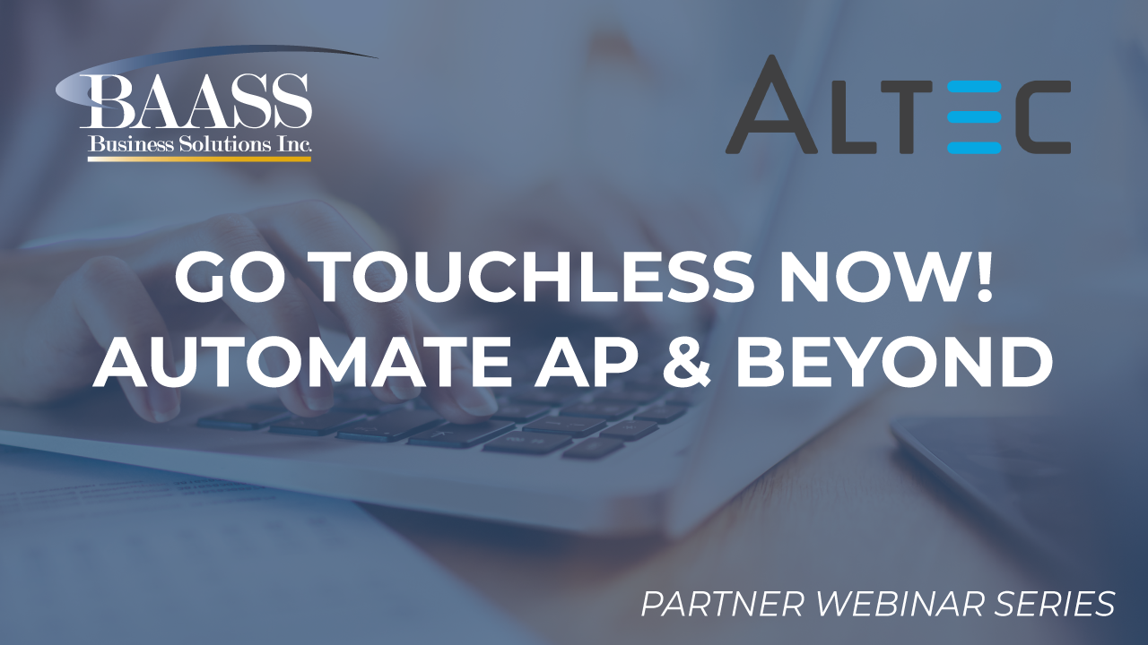 Go Touchless NOW! Automate AP & Beyond