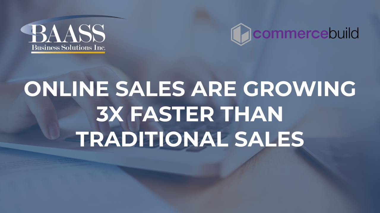Online Sales are Growing 3X Faster than Traditional Sales
