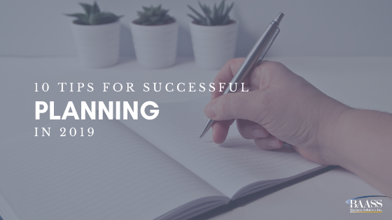 10 Tips for Successful Planning in 2019