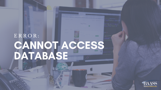 Error Cannot Access Database