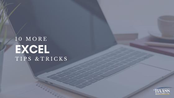 10 More Excel Tips & Tricks