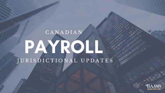 Canadian Payroll Jurisdictional Updates