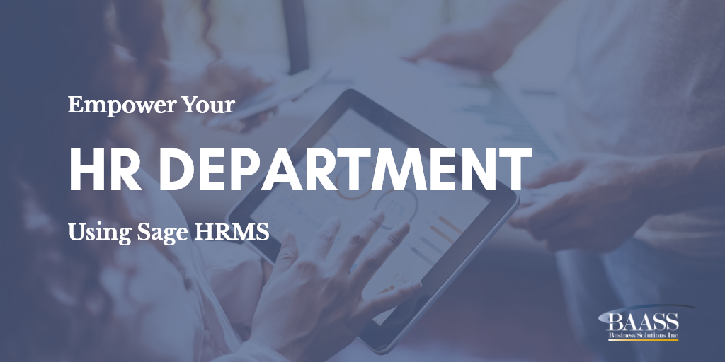 Empower Your HR Department By Using Sage HRMS